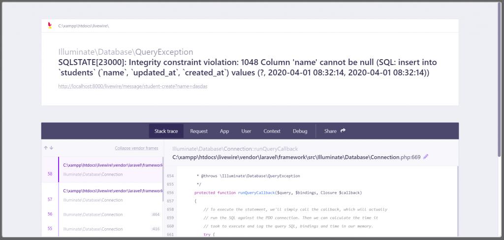 Error data tidak terkirim dengan Livewire