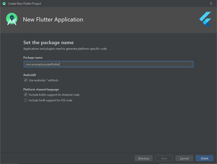 Membuat Projek Flutter Android Studio
