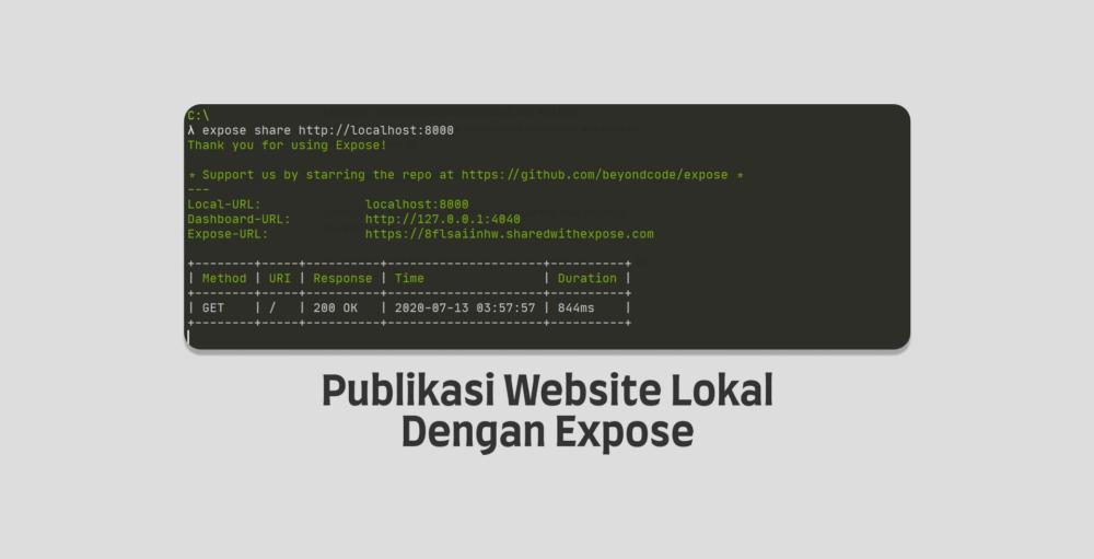 Publikasi Website Lokal Dengan Expose